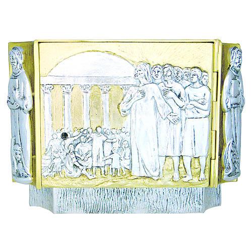 Tabernacolo ottone fuso Gesù discepoli bambini 1