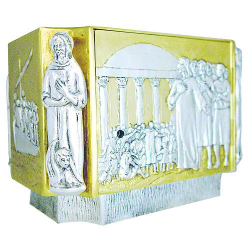 Tabernacolo ottone fuso Gesù discepoli bambini 2