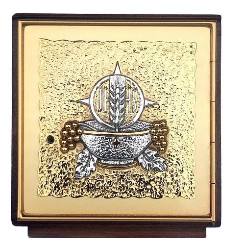 Tabernacolo da mensa legno e ottone fuso oro argento 1