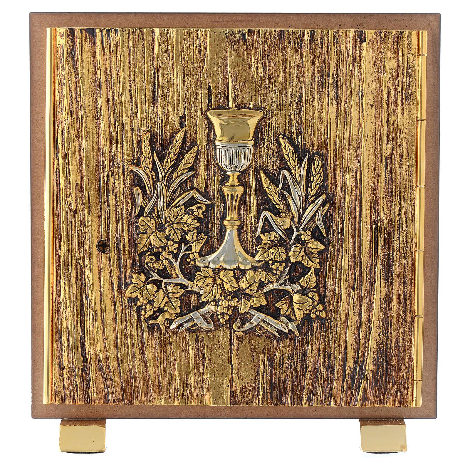 Tabernacolo legno similradica fusione ottone Calice 4