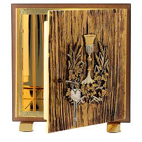 Tabernacolo legno similradica fusione ottone Calice s4