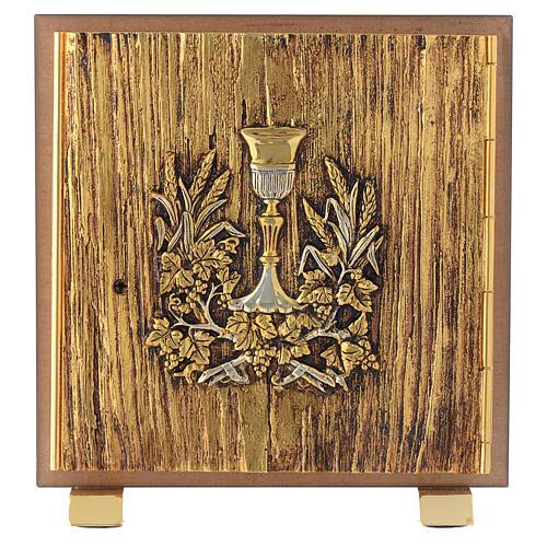 Tabernacolo legno similradica fusione ottone Calice 1