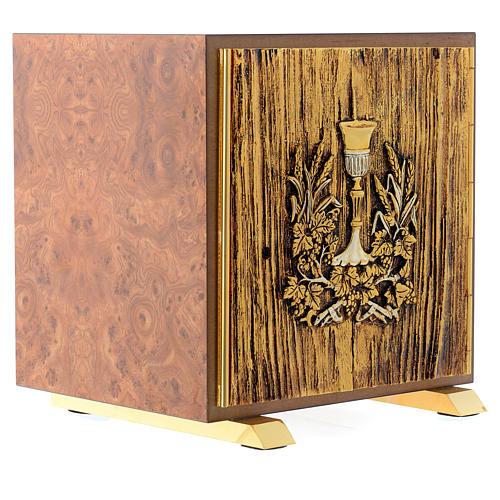 Tabernacolo legno similradica fusione ottone Calice 3