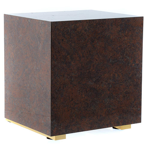 Tabernacle bois imitation marbre moulage laiton Exposition IHS 6