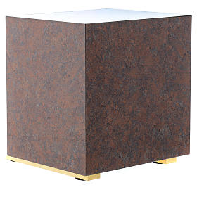 Tabernacle bois imitation marbre moulage laiton IHS s5