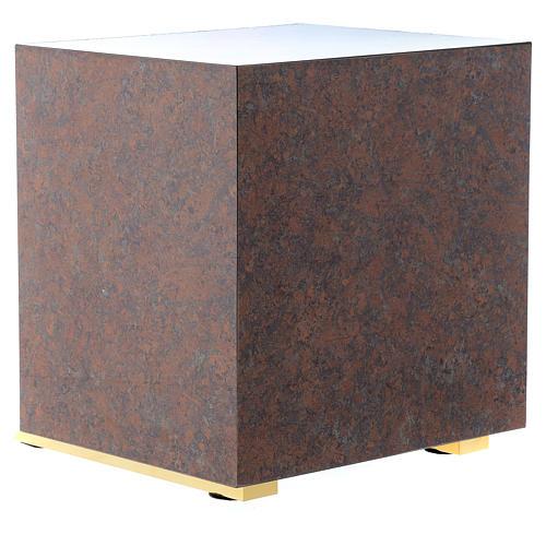 Tabernacle bois imitation marbre moulage laiton IHS 5