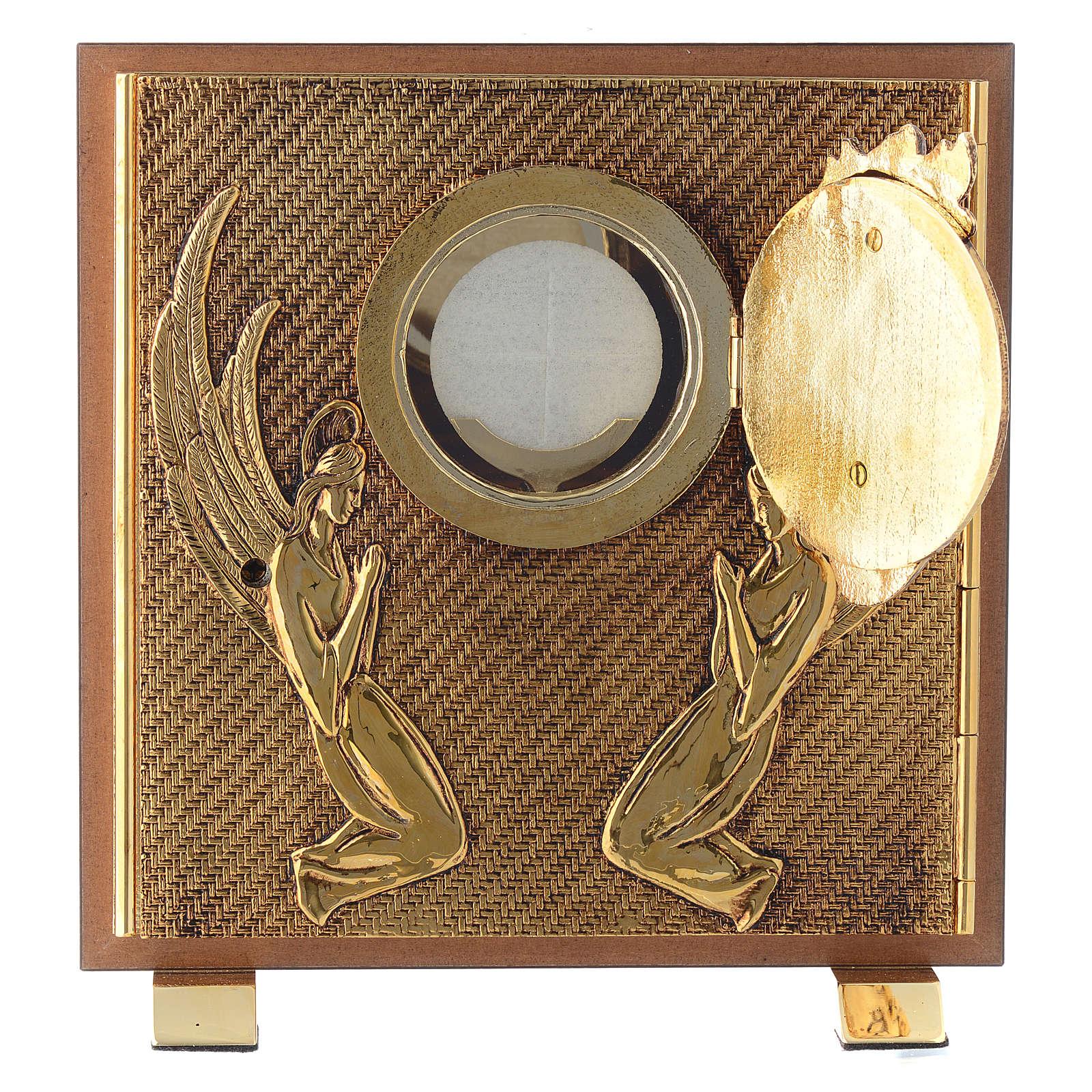 Tabernacle bois imitation ronce moulage laiton Exposition Sacré Coeur 4