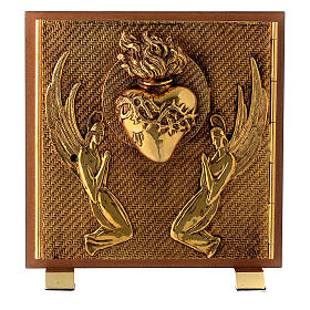 Tabernacle bois imitation ronce moulage laiton Exposition Sacré Coeur s1