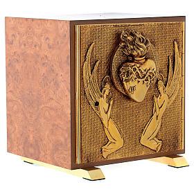 Tabernacle bois imitation ronce moulage laiton Exposition Sacré Coeur s3