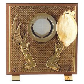 Tabernacle bois imitation ronce moulage laiton Exposition Sacré Coeur s4
