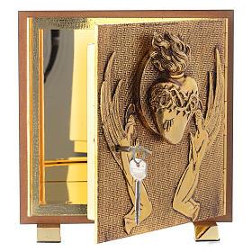 Tabernacle bois imitation ronce moulage laiton Exposition Sacré Coeur s5