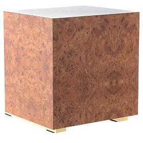 Tabernacle bois imitation ronce moulage laiton Exposition Sacré Coeur s6