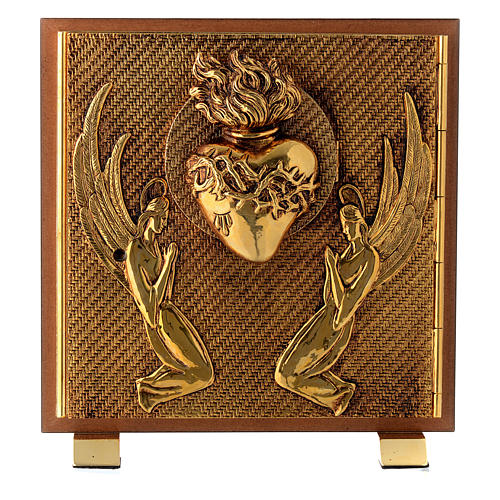 Tabernacle bois imitation ronce moulage laiton Exposition Sacré Coeur 1