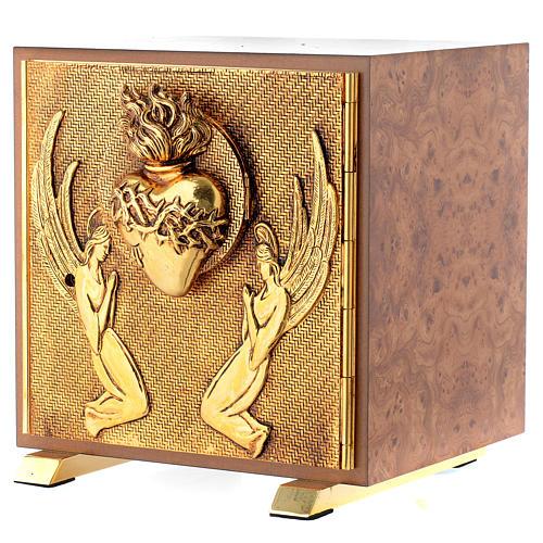 Tabernacle bois imitation ronce moulage laiton Exposition Sacré Coeur 2