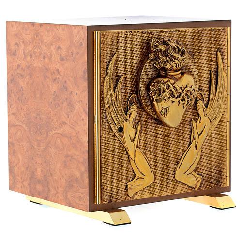 Tabernacle bois imitation ronce moulage laiton Exposition Sacré Coeur 3