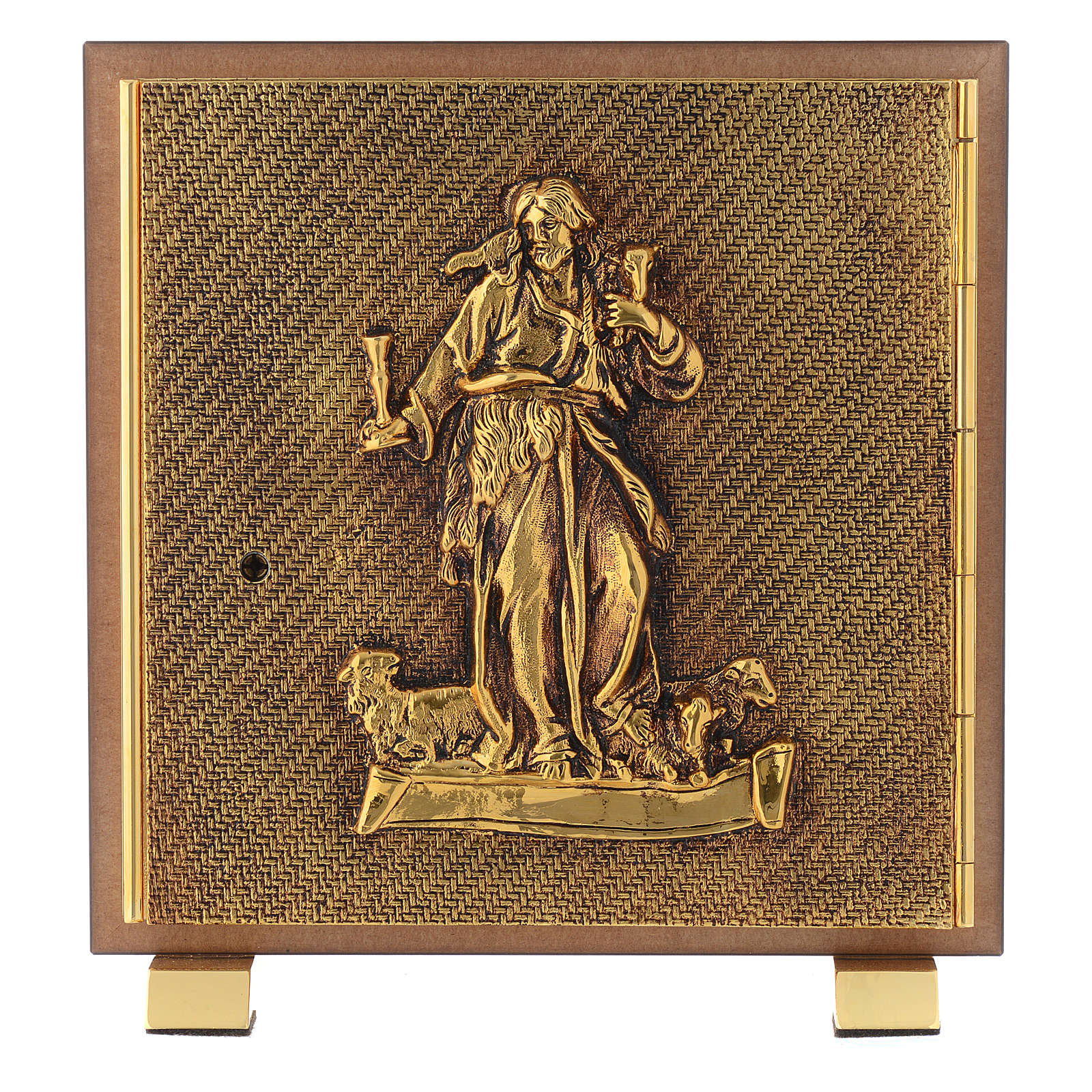 Tabernacle in wood and brass, Good Shepherd 4