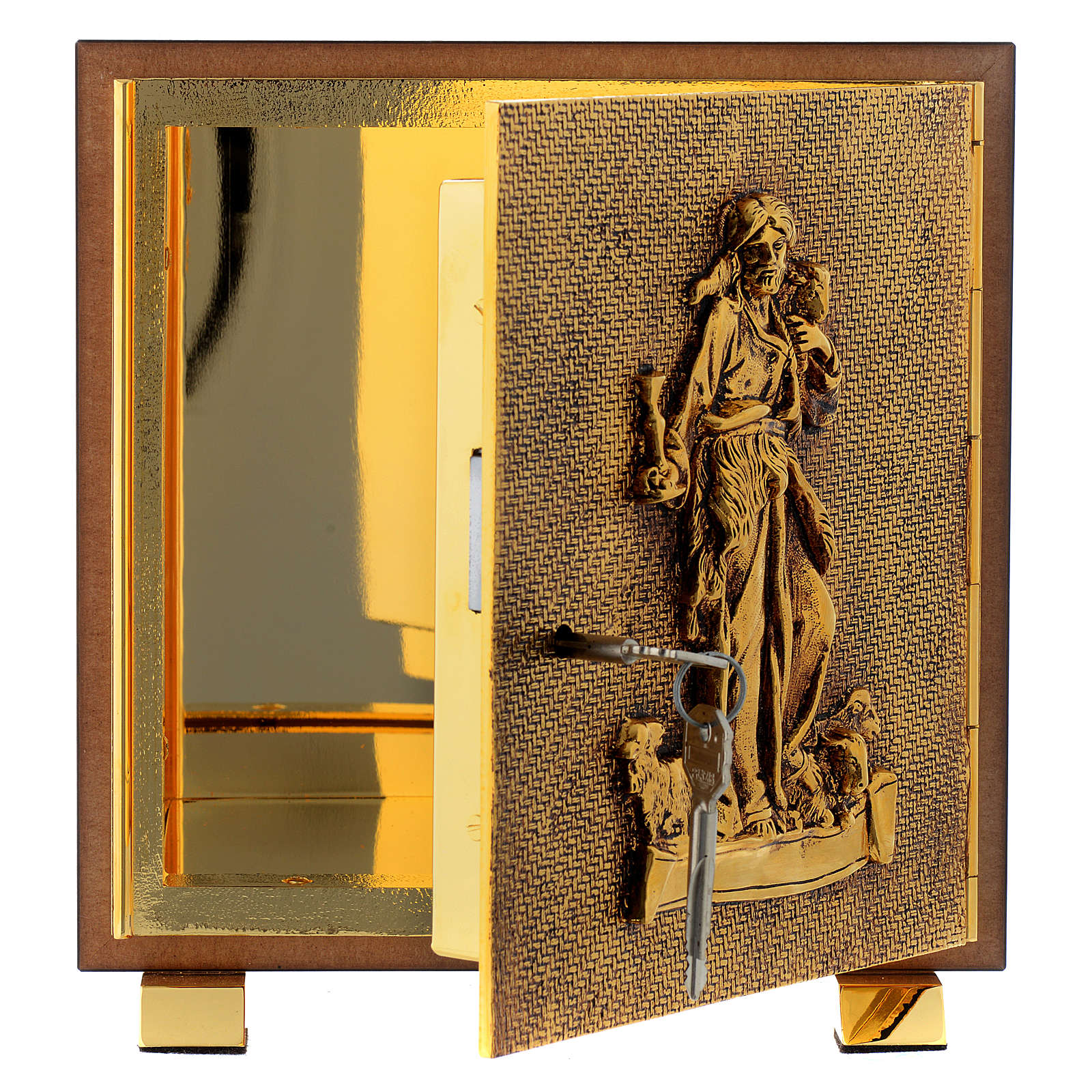 Tabernacle in wood and brass, Good Shepherd 4