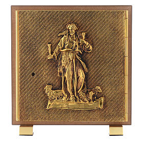 Tabernacle in wood and brass, Good Shepherd s1