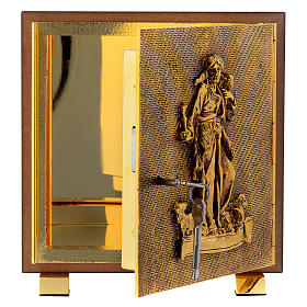 Tabernacle in wood and brass, Good Shepherd s4