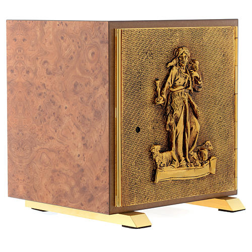 Tabernacolo legno similradica fusione ottone Buon Pastore 3