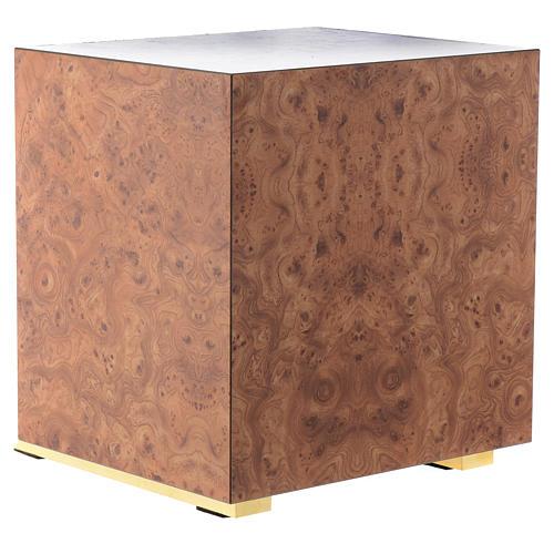 Tabernacolo legno similradica fusione ottone Buon Pastore 5