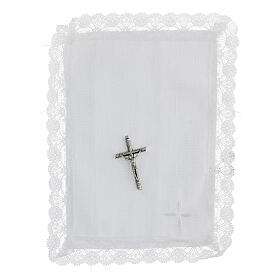 Portateca con teca con croce e piccolo purificatoio s3