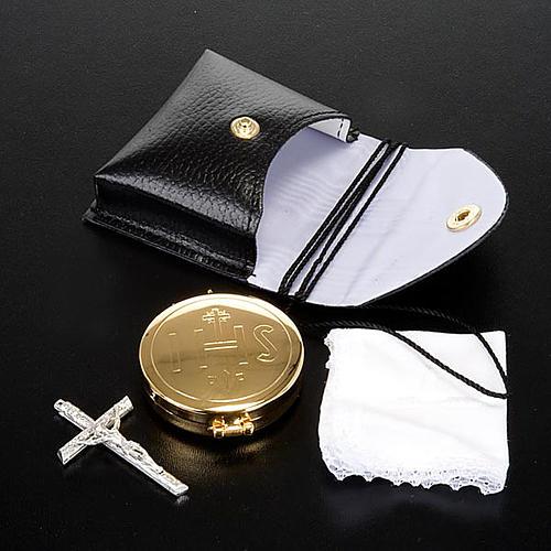 Portateca con teca con croce e piccolo purificatoio 3