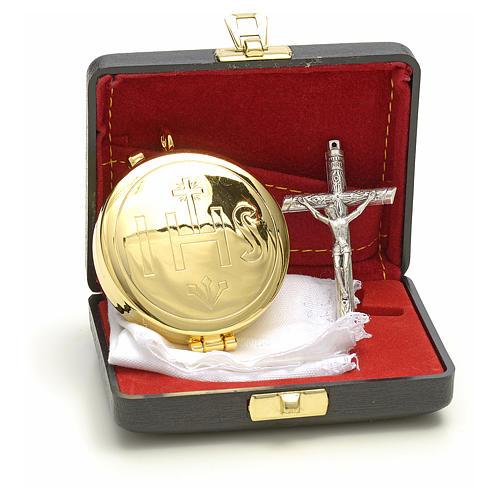 Astuccio rigido con teca IHS croce purificatoio 2