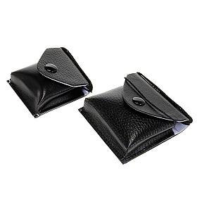 Pyxes and Burses: Black leatherette burse