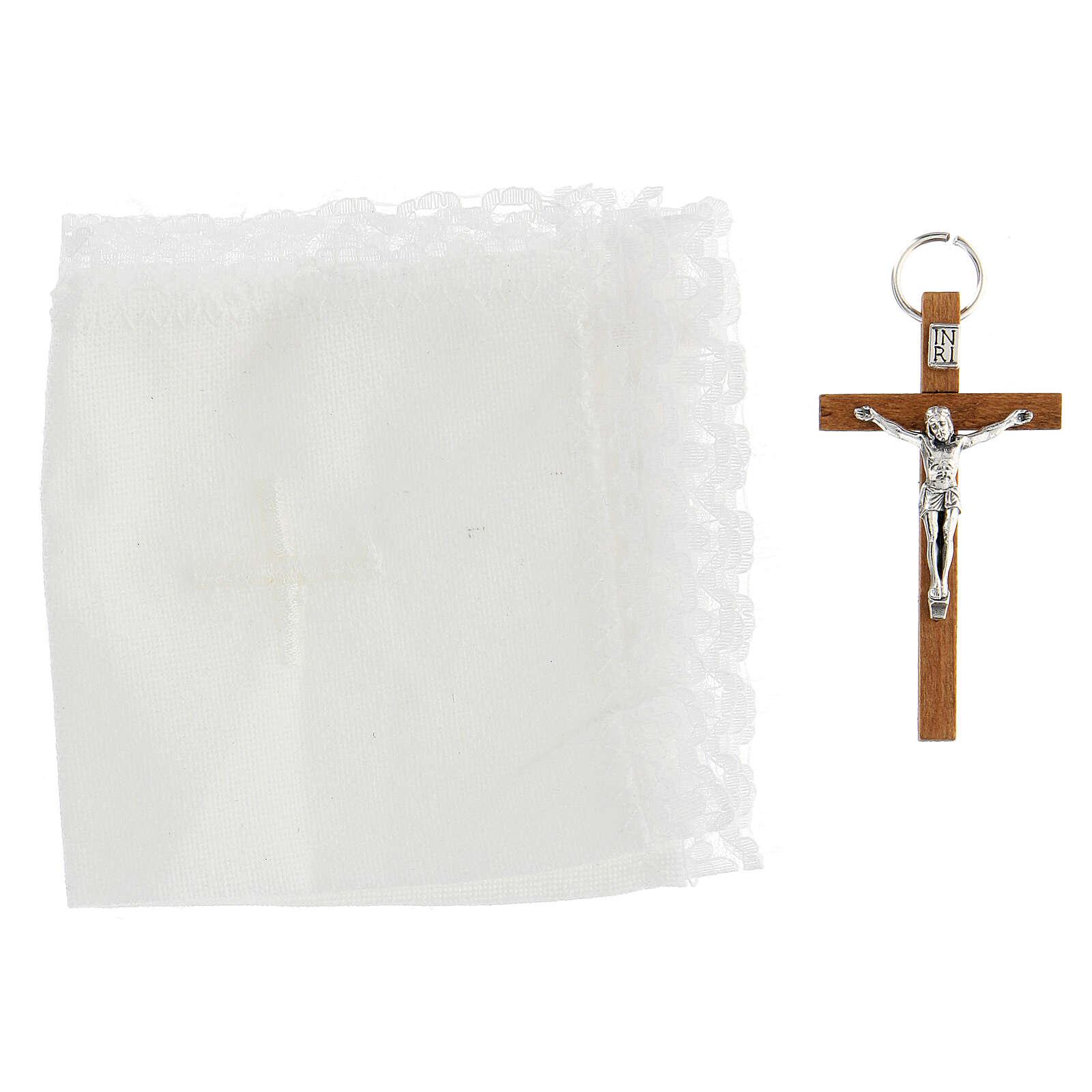 Estuche de piel con portaviático símbolo del Buen Pastor 3