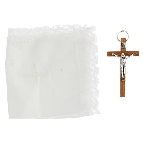 Estuche de piel con portaviático símbolo del Buen Pastor 4