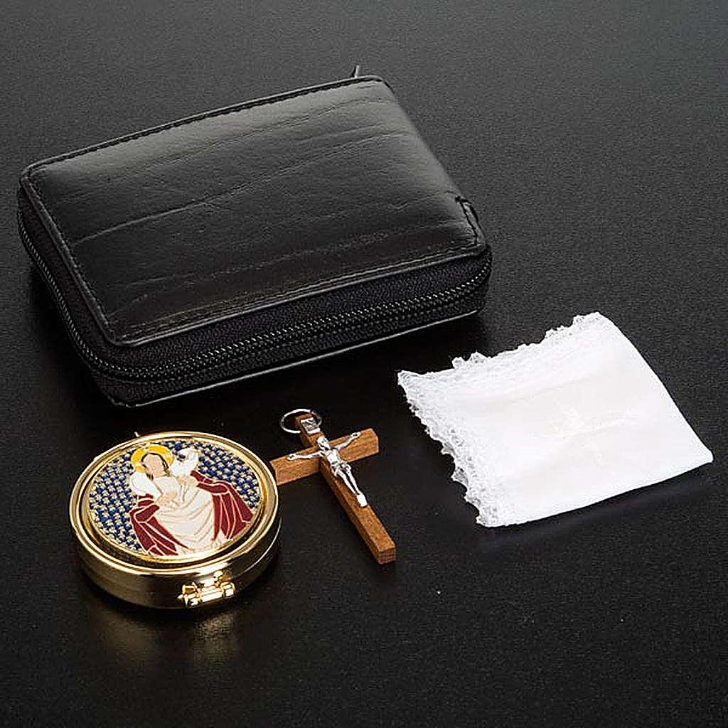 étui  en cuir pour custode et croix 3