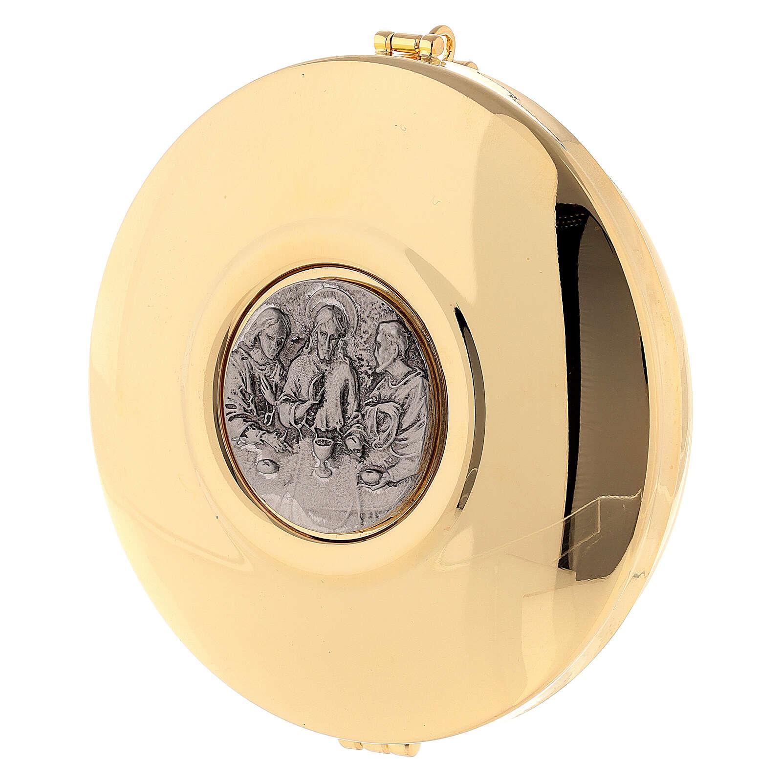 Portateca pelle tipo foca con teca dorata 12 cm 3