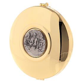 Portateca pelle tipo foca con teca dorata 12 cm s2