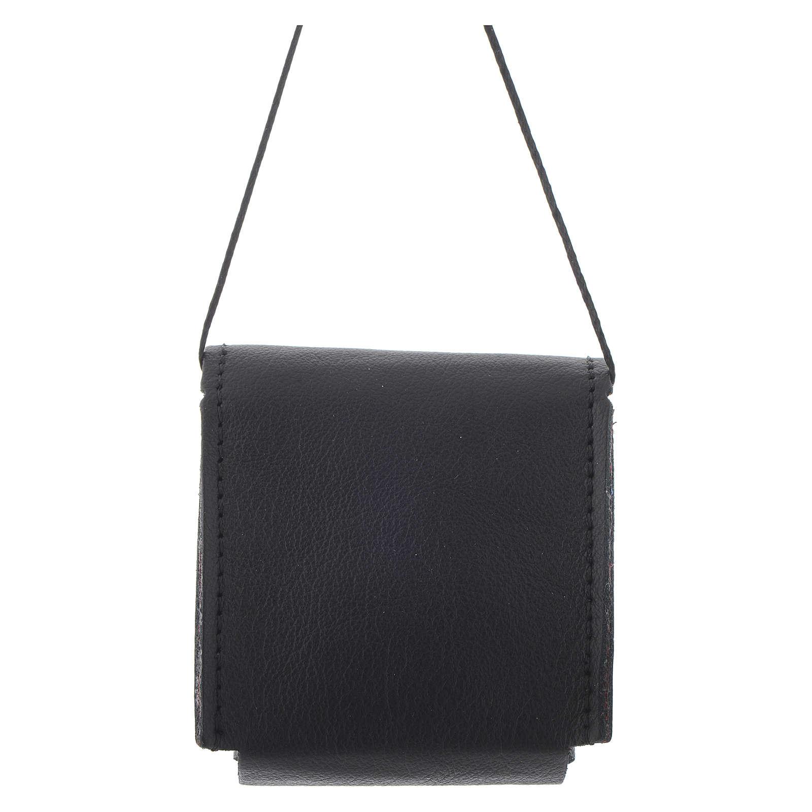 Estuche para caja de formas negro cuero 7 x 7,5 cm 3