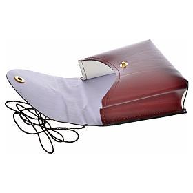Porta teca pelle per teca 10 cm bordeaux s6
