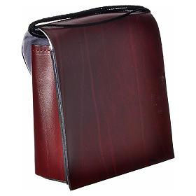 Porta teca pelle per teca 10 cm bordeaux s2