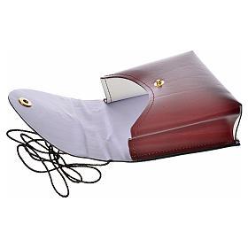 Porta teca pelle per teca 10 cm bordeaux s3