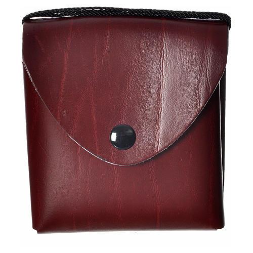 Porta teca pelle per teca 10 cm bordeaux 1