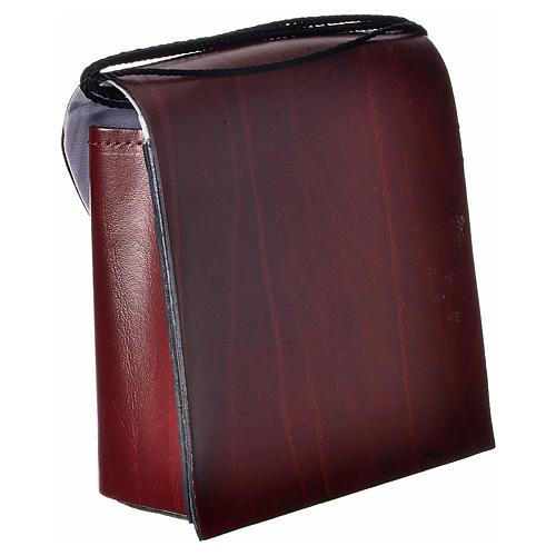 Porta teca pelle per teca 10 cm bordeaux 2