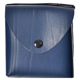 Hostiendosen und Hostienbehälter: Etui für Reqliquiar (10cm) blauen Leder