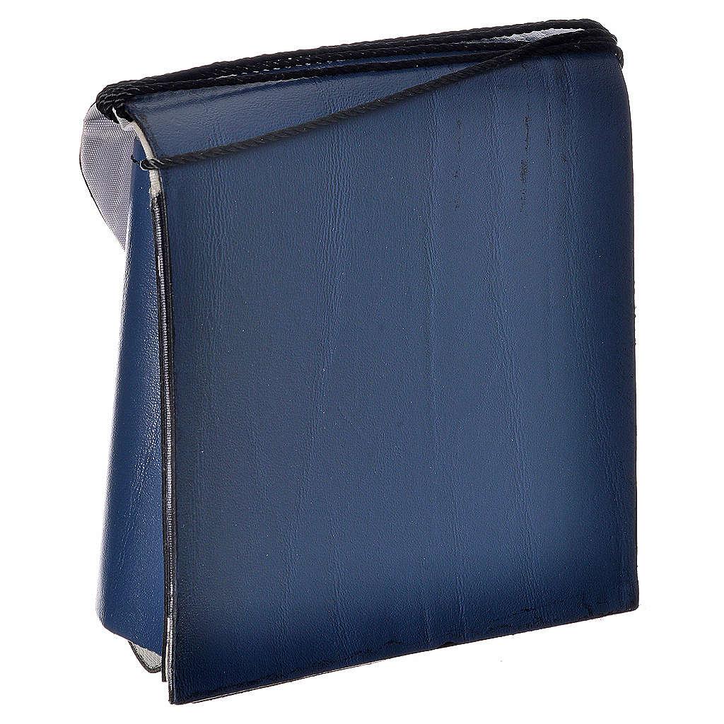 Pyx case in leather, 10 cm, blue 3