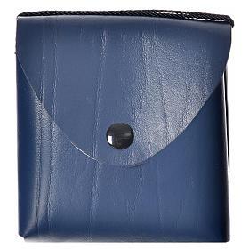 Pyx case in leather, 10 cm, blue s5