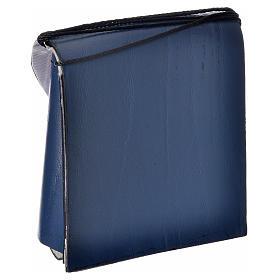 Pyx case in leather, 10 cm, blue s6