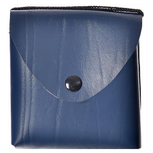 Pyx case in leather, 10 cm, blue 1