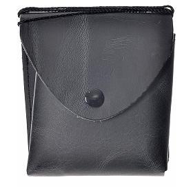 Hostiendosen und Hostienbehälter: Etui für Reliquiar (10cm) aus schwarzen Leder