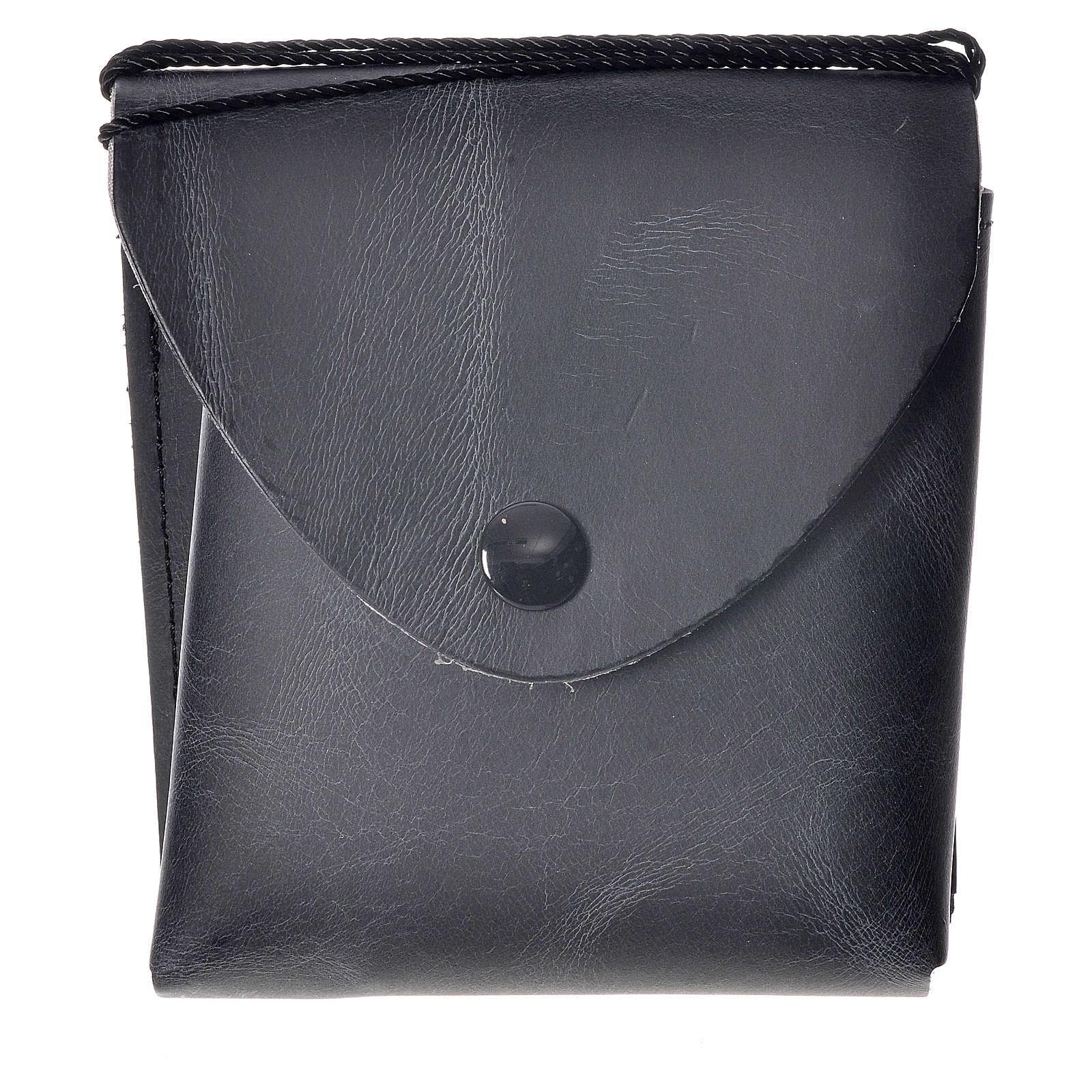 Porta teca pelle per teca 10 cm nero 3