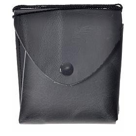 Porta teca pelle per teca 10 cm nero s4