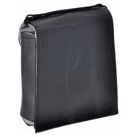 Porta teca pelle per teca 10 cm nero s5