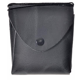 Porta teca pelle per teca 10 cm nero s1